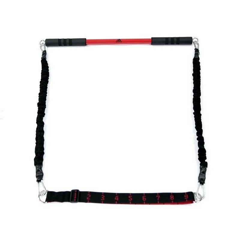 Гриф с эспандерами Adidas ADAC-11403 черный