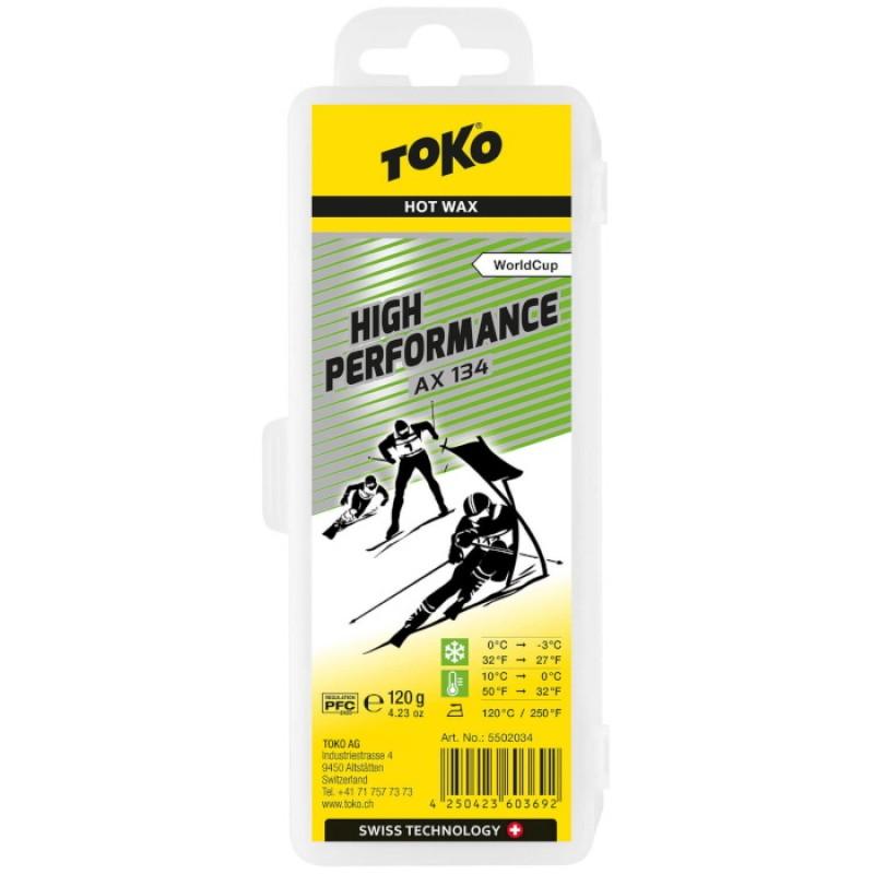 Парафин высокофтористый TOKO High Performance AX 134 120 г.