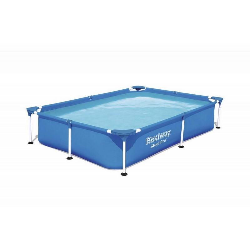 Каркасный бассейн  прямоугольный 221х150х43см Bestway Steel Pro 56401