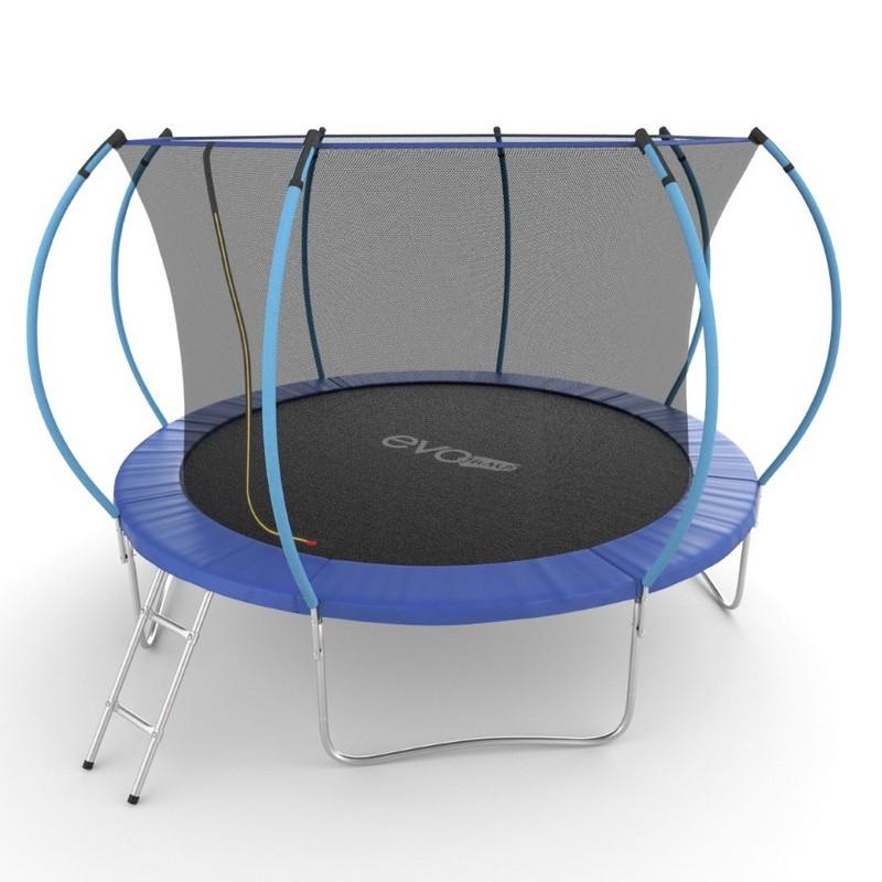 Батут с внутренней сеткой и лестницей EVO Jump Internal 12ft синий