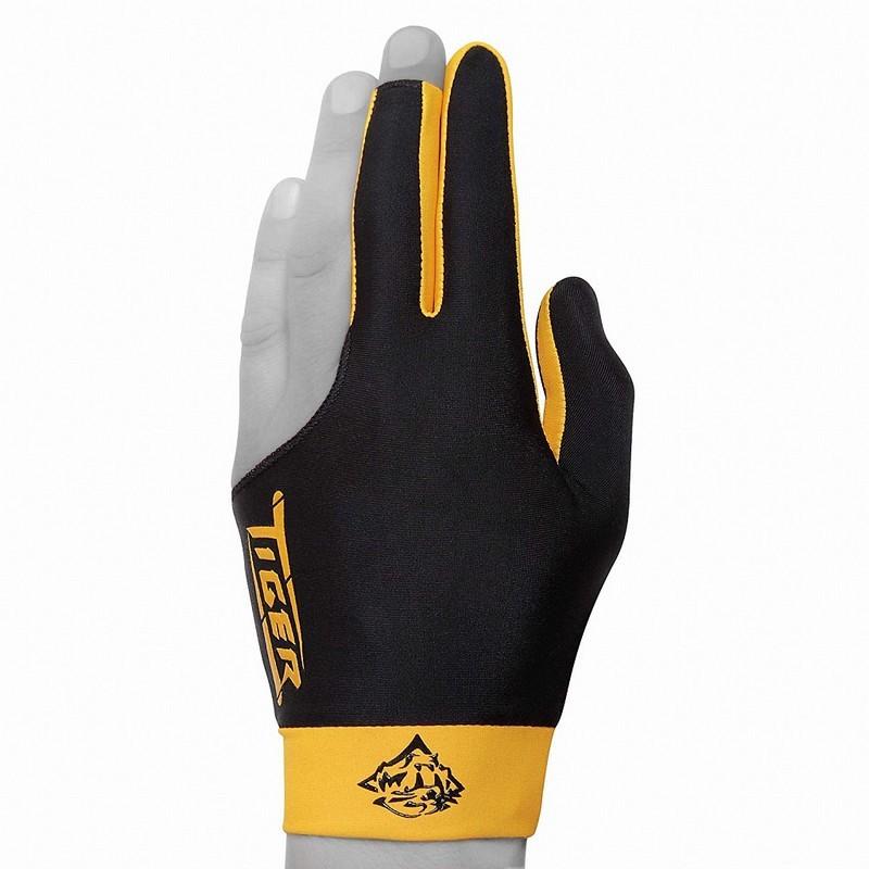 Перчатка бильярдная Tiger L, 45.400.00.3 черно-желтая