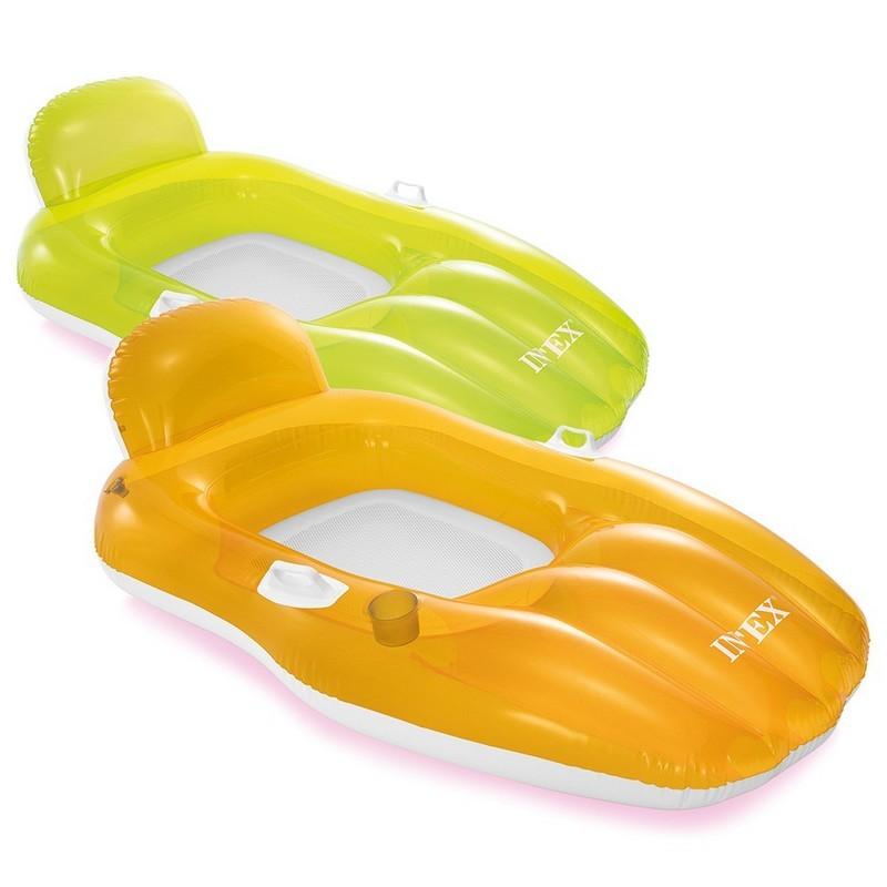 Надувной матрас-кресло для плавания 163х104см Intex с ручками 56805EU