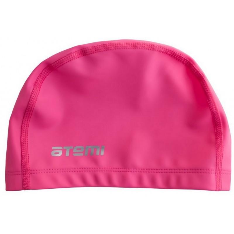 Шапочка для плавания Atemi тканевая с силиконовым покрытием СС102 розовый