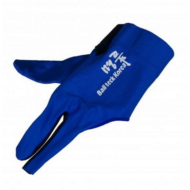 Перчатка бильярдная Ball Teck MFO (черно-синяя, вставка замша), защита от скольжения 45.251.03.4