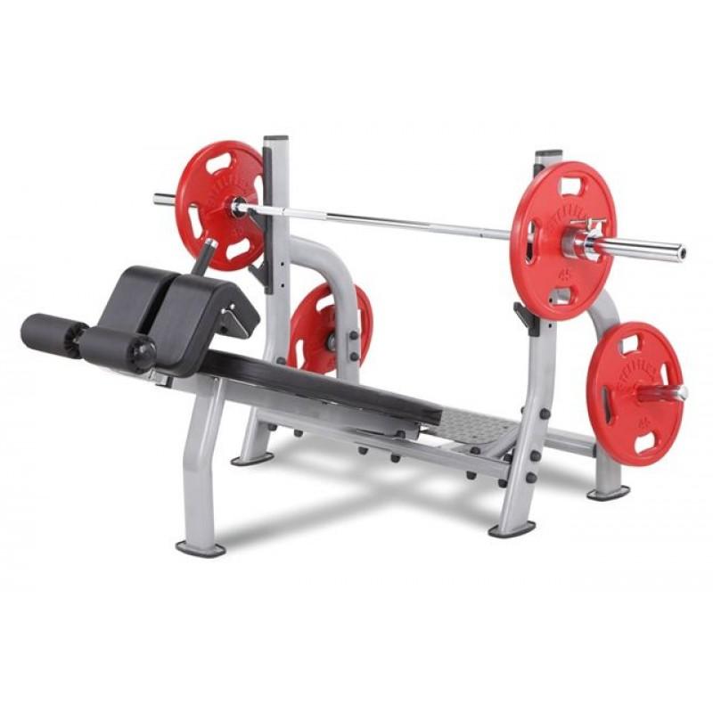 Олимпийская скамья с отрицательным наклоном Steel Flex NODB