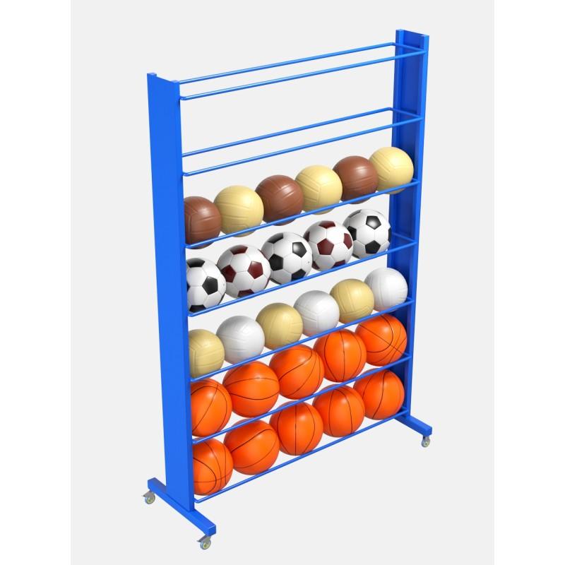 Стеллаж для мячей усиленный односторонний Glav 9.307.0-2100 200х210х35- на 56шт.