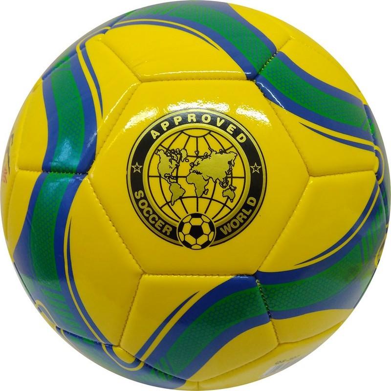 Мяч футбольный Meik 307 R18027-2 р.5 желтый