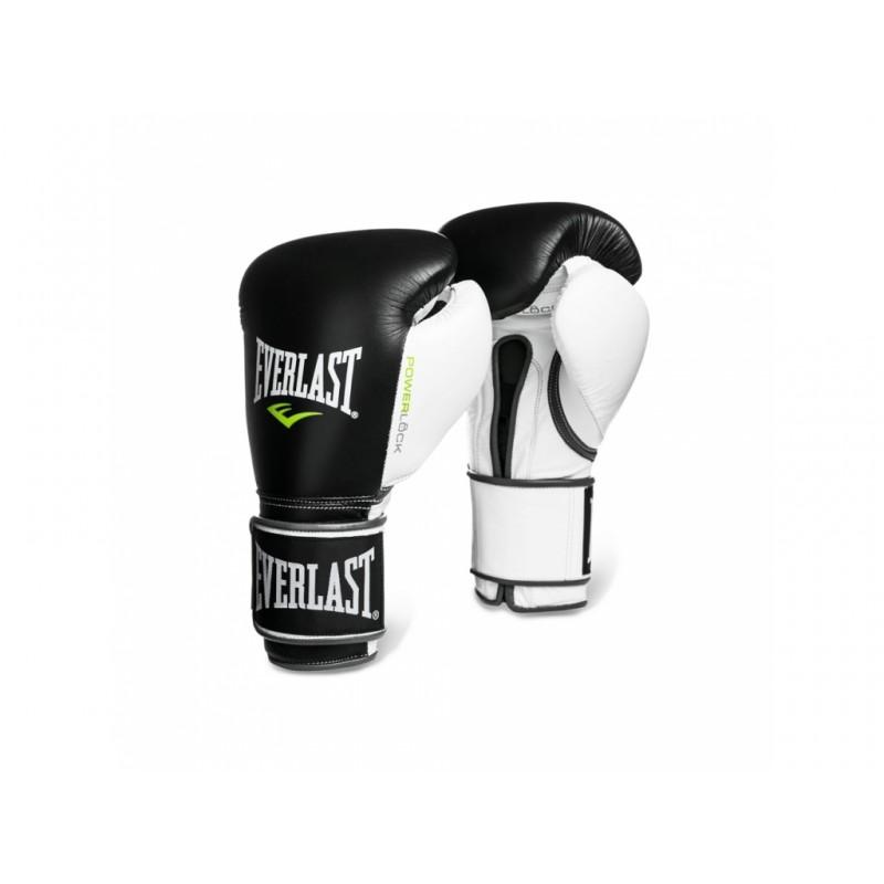 Боксерские перчатки Everlast Powerlock 14 oz черный/белый/зеленый 2200657
