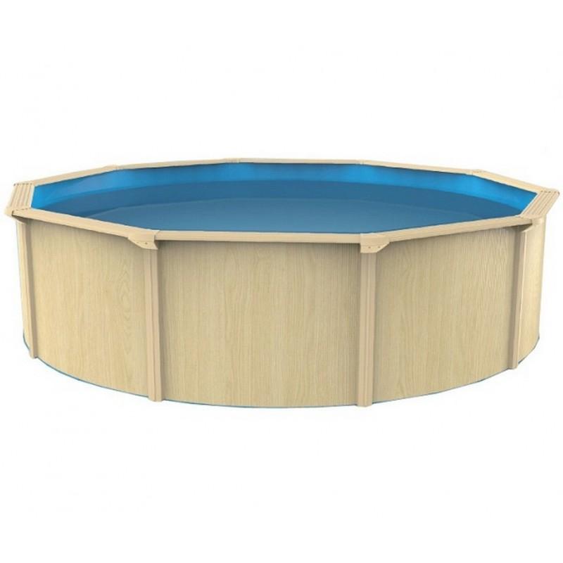 Морозоустойчивый бассейн круглый 550x130см Poolmagic Wood Premium