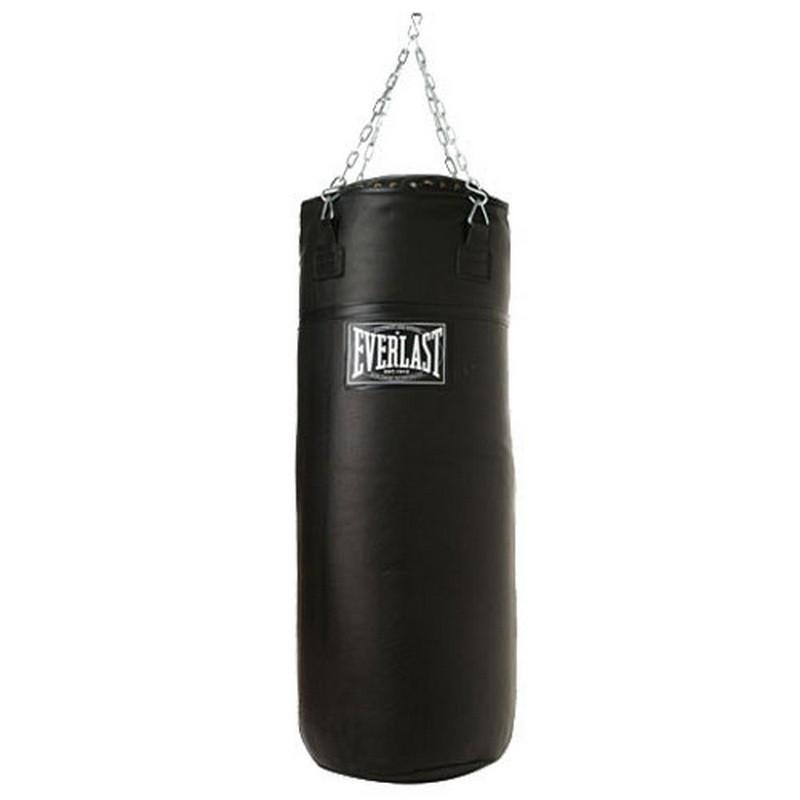 Боксерский мешок Everlast super leather 100lb 45 кг черный 251001