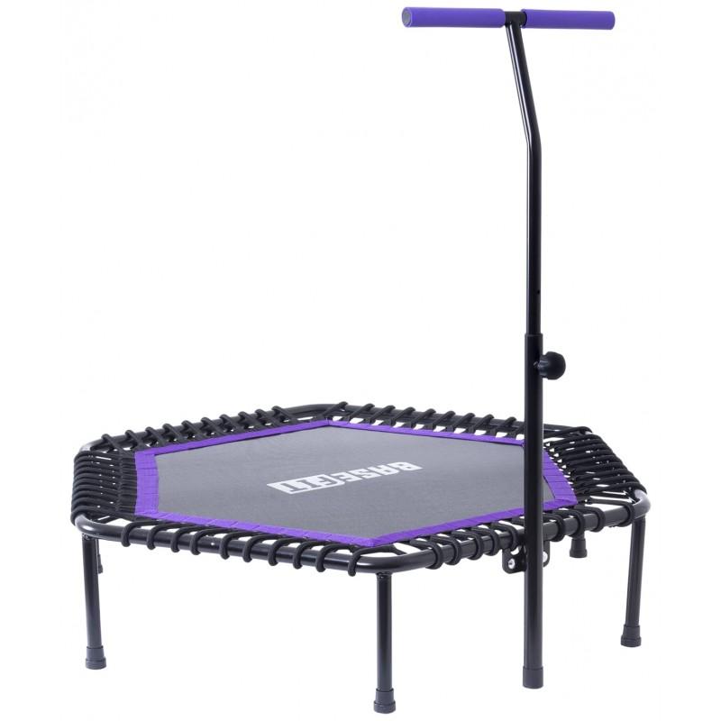 Батут BaseFit TR-401 112 см с держателем, фиолетовый