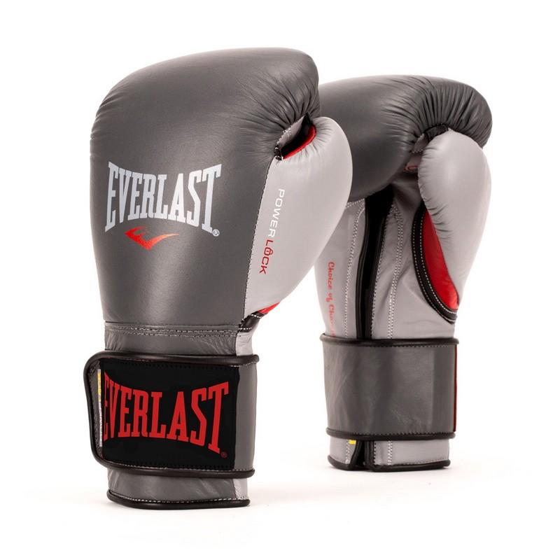 Боксерские перчатки Everlast Powerlock 12 oz сер/красн. P00000600