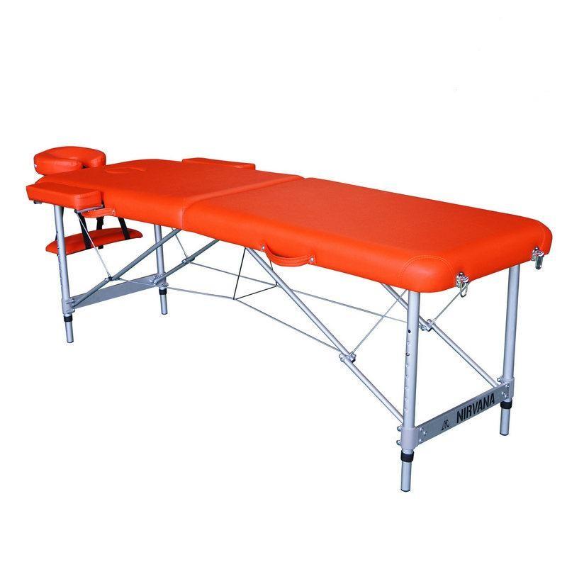Массажный стол DFC Nirvana, Elegant,186х60х4 см, алюм. ножки, цвет оранжевый (Orange) TS2010_Or