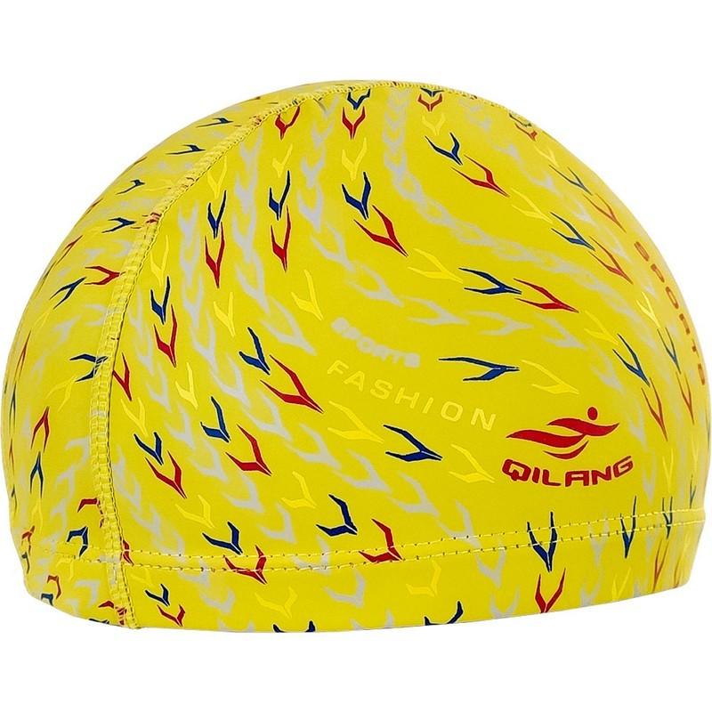 Шапочка для плавания с принтом ПУ B31561 желтые