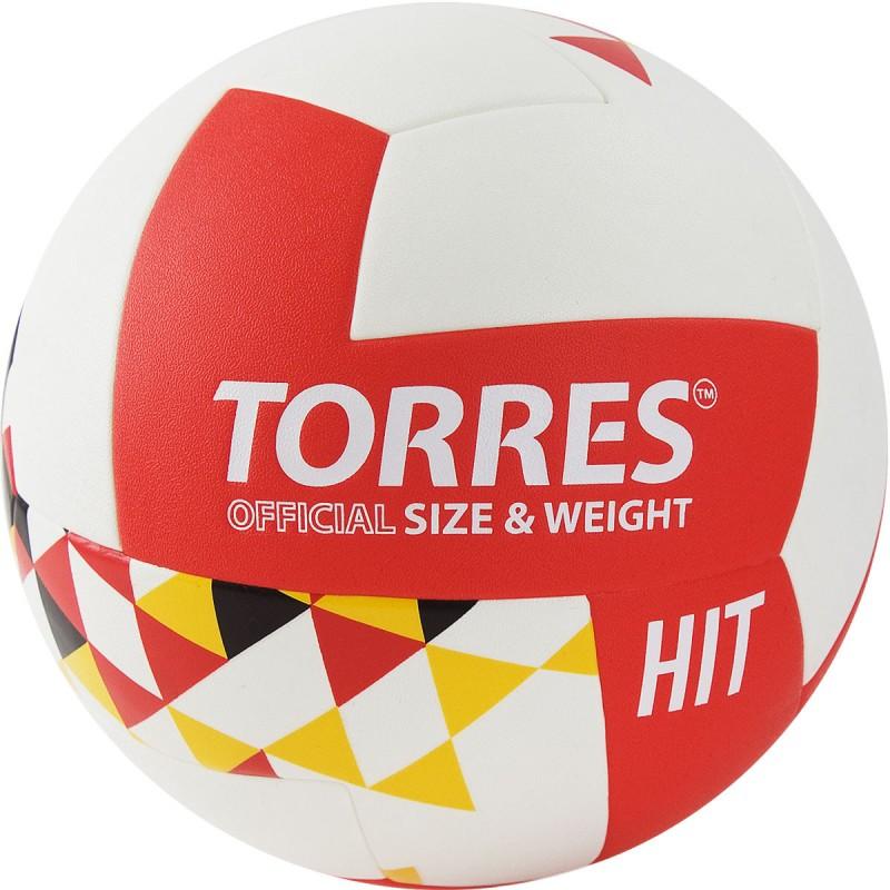 Мяч волейбольный Torres Hit V32055 р.5 бело-красно-мультколор