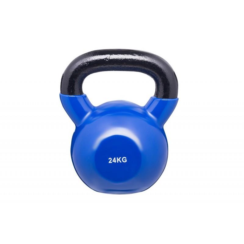 Гиря в виниловой оболочке BenCarFitness 24 кг синий TS-2174/24