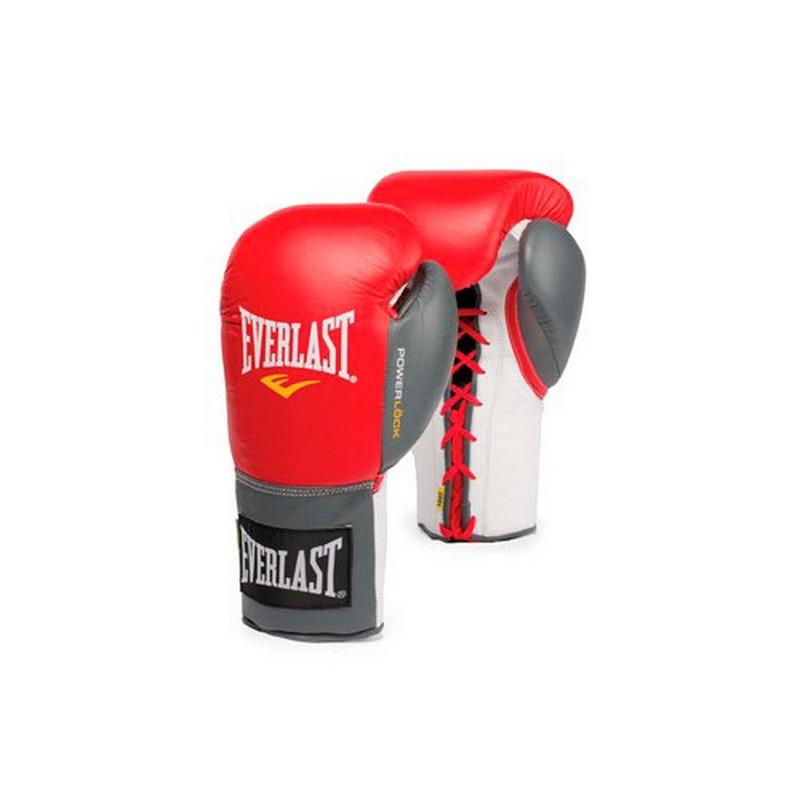 Перчатки тренировочные Everlast Powerlock 16 oz красный/серый 2200756