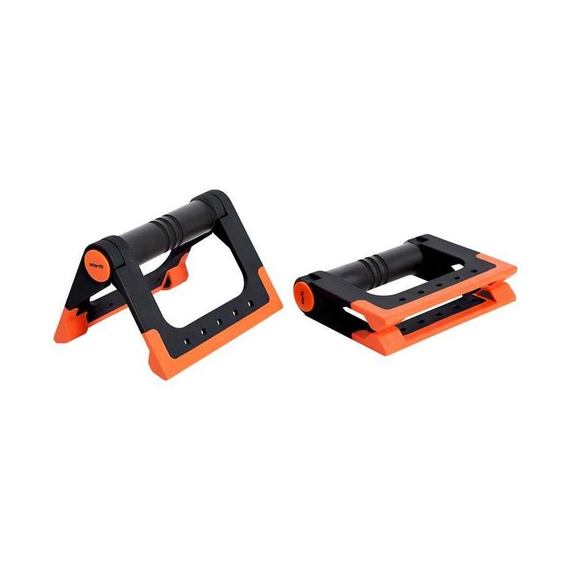 Упоры для отжиманий Starfit BA-304, cкладные, черный/оранжевый