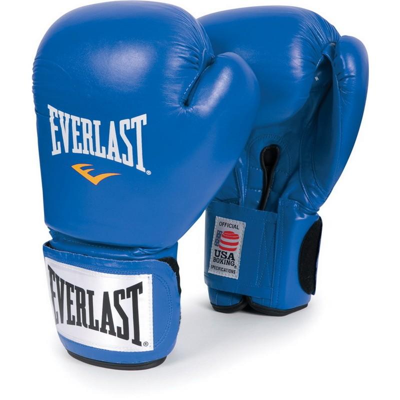 Боксерские перчатки Everlast Amateur Cometition любительские 641006-10 PU синие 10 oz