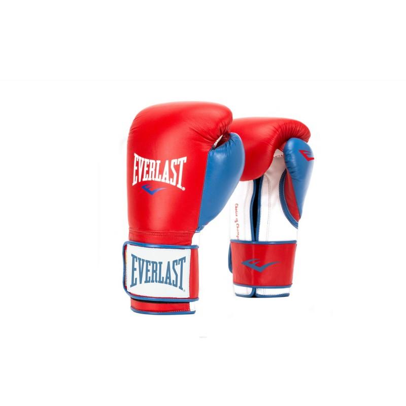Перчатки тренировочные Everlast Powerlock PU 14oz красн/син. P00000729
