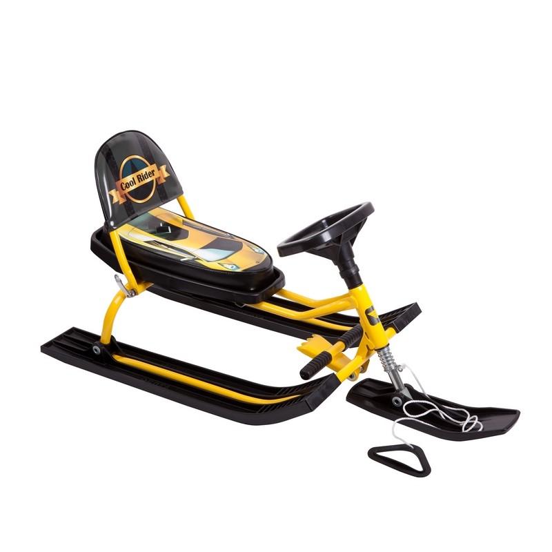 Снегокат Барс 114 Comfort Auto (Rider) Черный/желтый