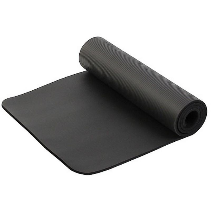 Коврик для фитнеса и йоги Larsen NBR 183х60х1см чёрный