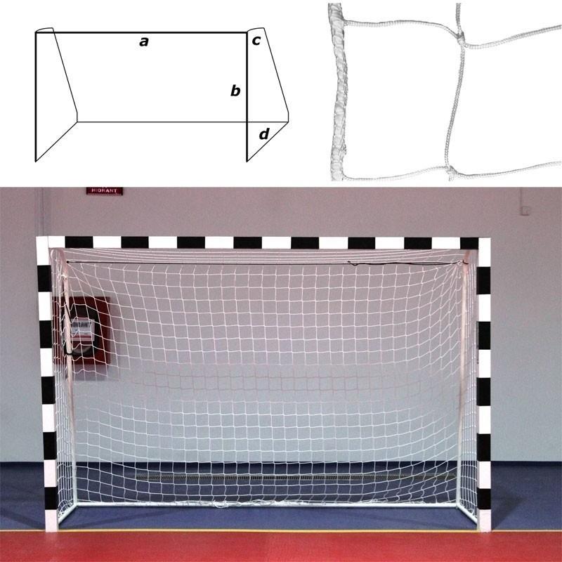 Сетка гандбольно-футзальная FS№H3.2/0810, a:3.0 b:2.0 c:0.8 d:1.0 м, белая