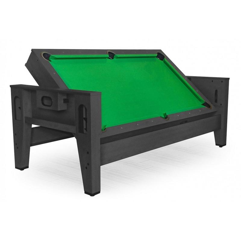 Игровой стол - трансформер Twister DBO бильярд, аэрохоккей, настольный теннис черный