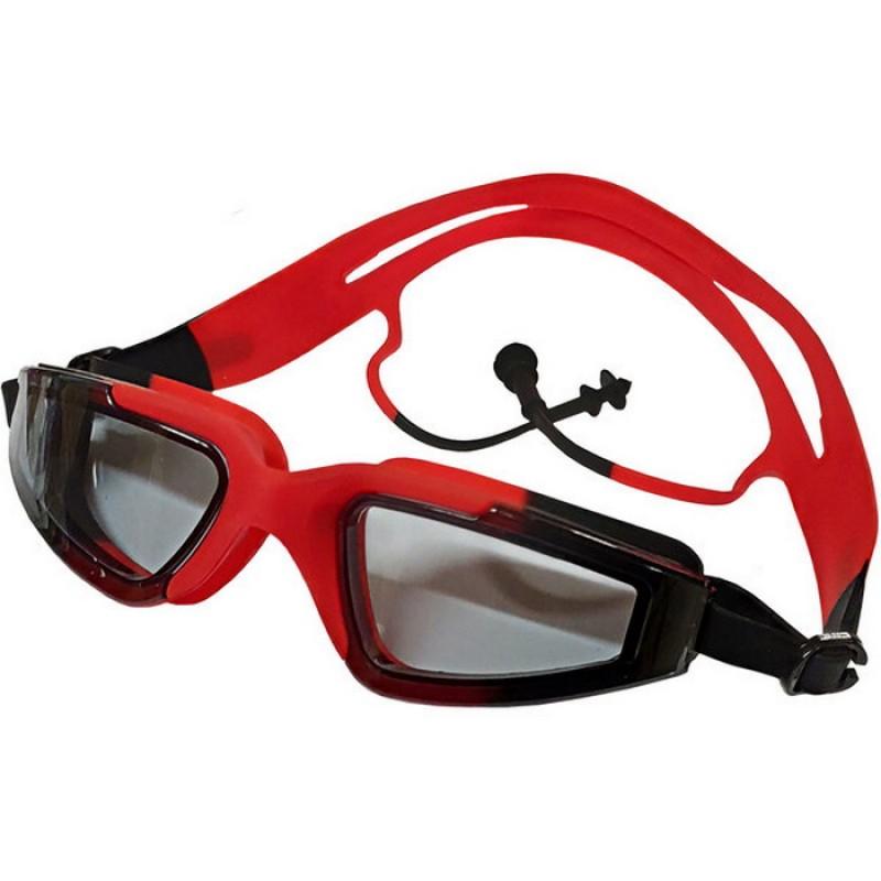 Очки для плавания с берушами B31545-3 Красный\Черный
