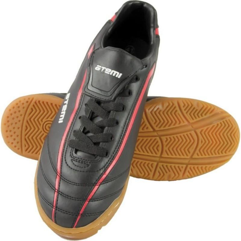 Бутсы футбольные Atemi SD500 Indoor, синтетическая кожа, черн/красн (30-39)