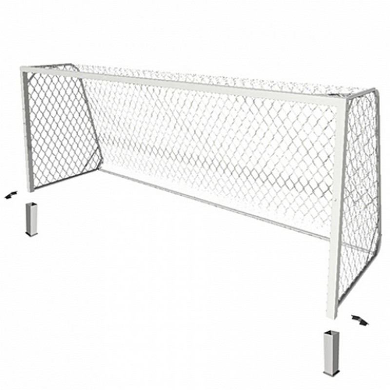 Ворота футбольные алюм. стационарные юношеские SportWek SpW-AS-500-2 (500x200) шт