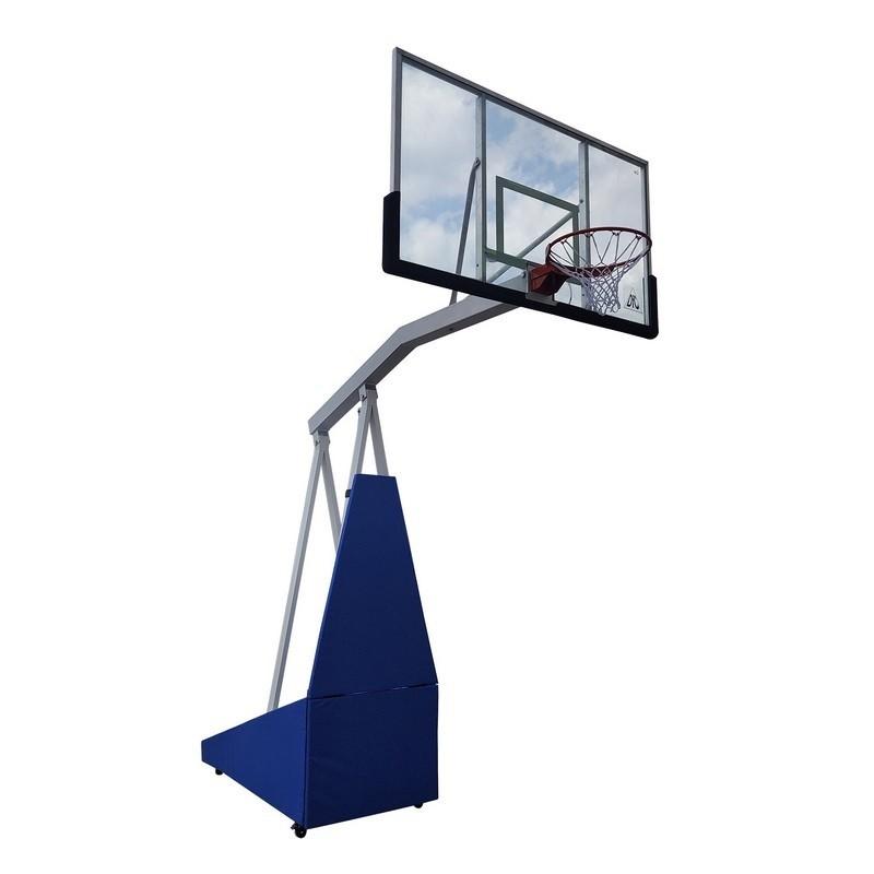 Баскетбольная мобильная стойка DFC STAND72G PRO 180x105CM стекло