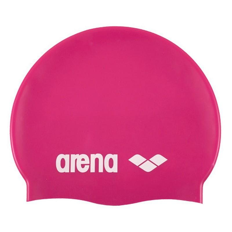 Шапочка для плавания Arena Classic Silicone силикон розовый 9166291