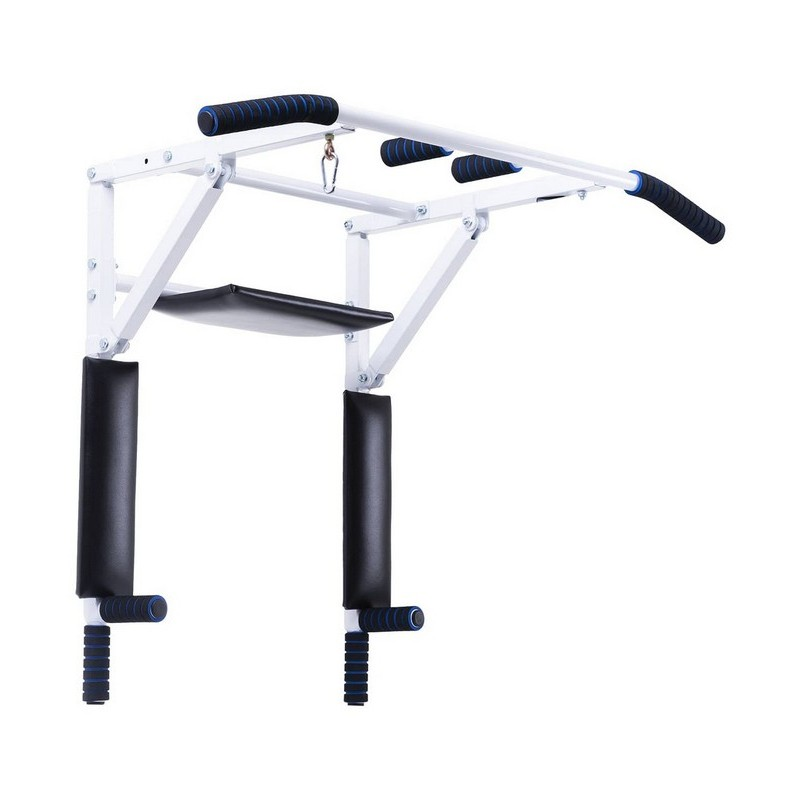 Турник-брусья настенный 3 в 1 BaseFit Workout, складной d=28 мм, ширина 115 см, вынос 56 см
