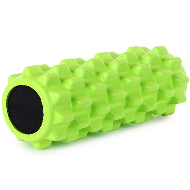 Цилиндр рельефный для фитнеса Harper Gym EG03 ?13х33 см салатовый
