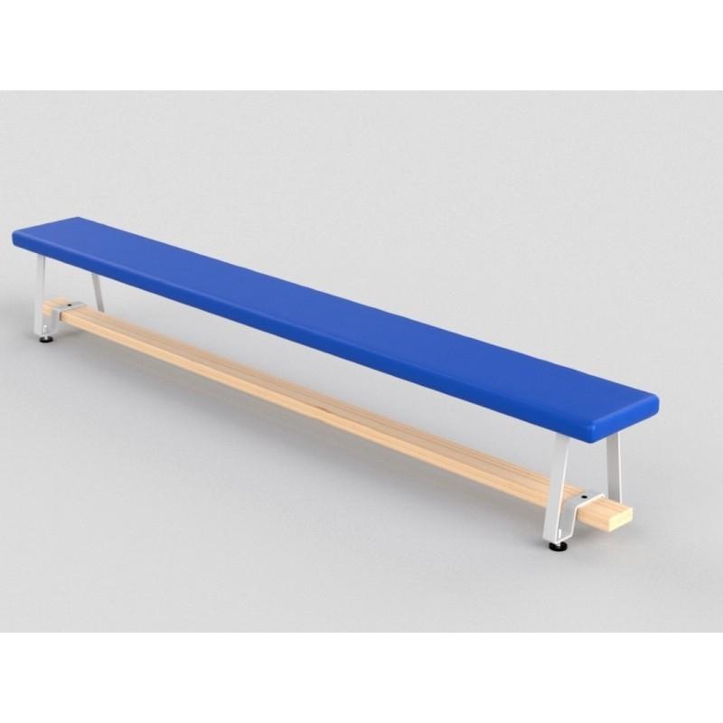 Скамья гимнастическая мягкая, ножки металлические Glav 04.301.1-3000 Длина 300см