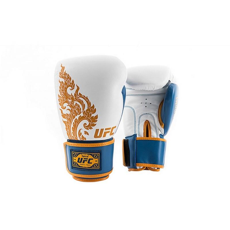 Перчатки для бокса,14 унций UFC TRUE TAI UTT-75376 Blue\White
