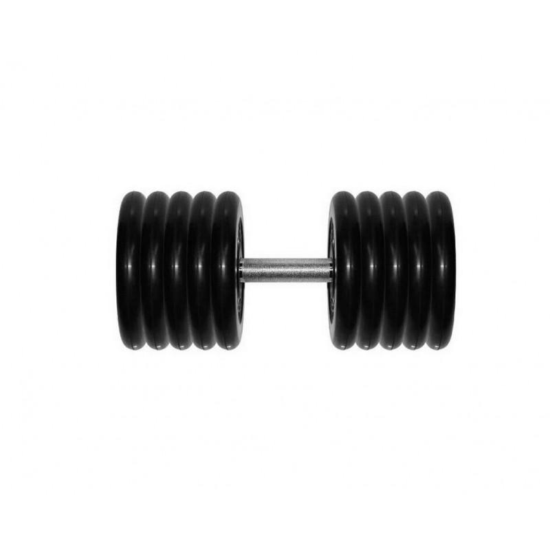 Гантель неразборная Original Fit.Tools 61 кг G61 черная
