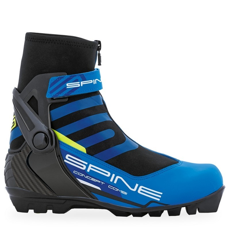 Лыжные ботинки SNS Spine Combi 468 синий/черный/салатовый