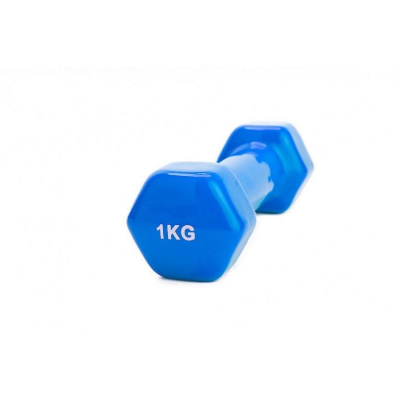 Гантель обрезиненная 1 кг Bradex SF 0160 синий