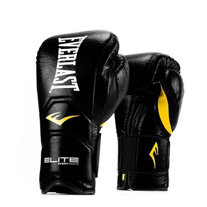 Перчатки тренировочные на липучке Everlast Elite Pro 18oz