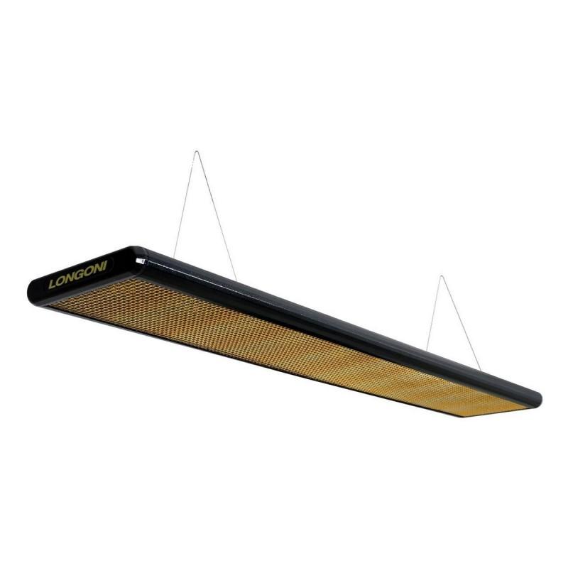 Лампа плоская Longoni Nautilus пирамида 10379 черная, золотистый отражатель