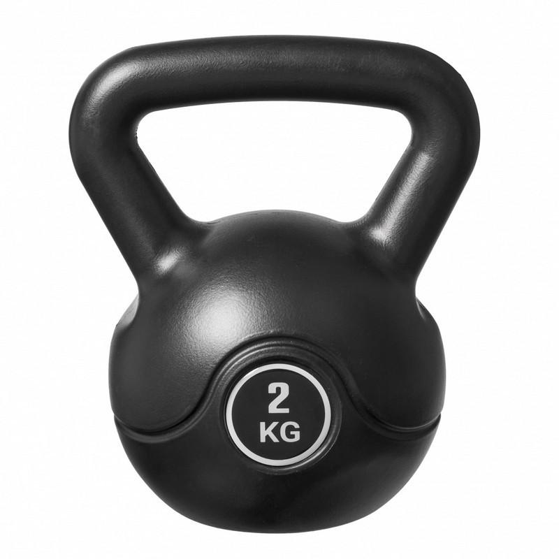 Пластиковая гиря 2 кг Bradex SF 0703 (2kg Solid Color Cement Kettle Bell, black)