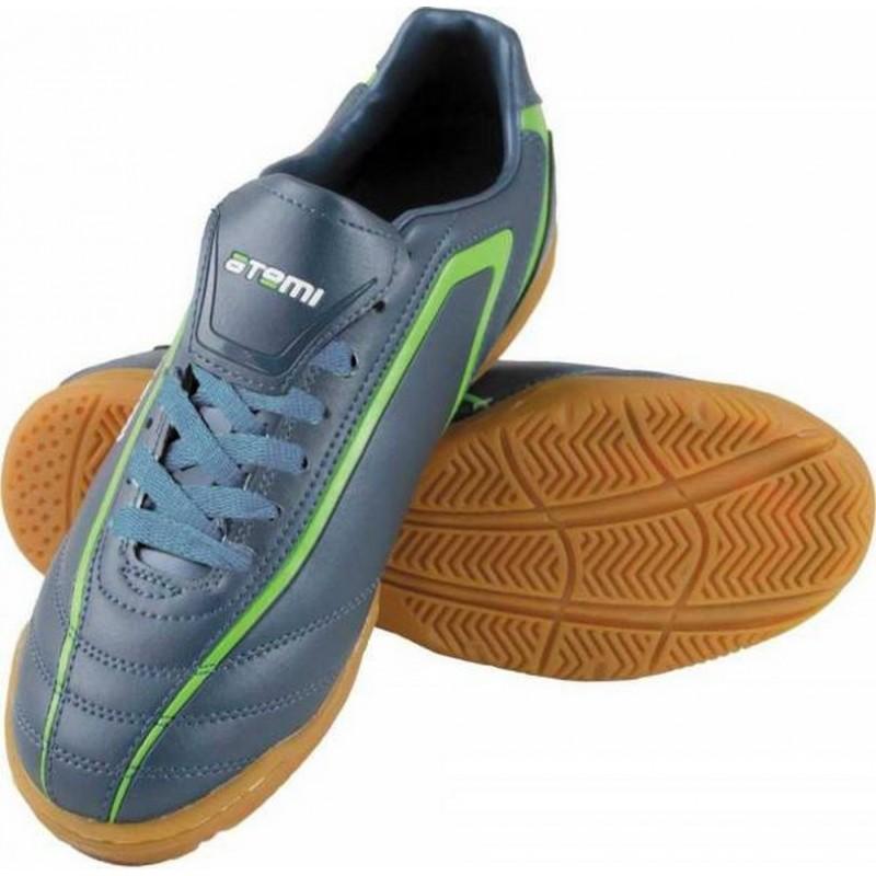 Бутсы футбольные Atemi SD500 Indoor синтетическая кожа сер/зел