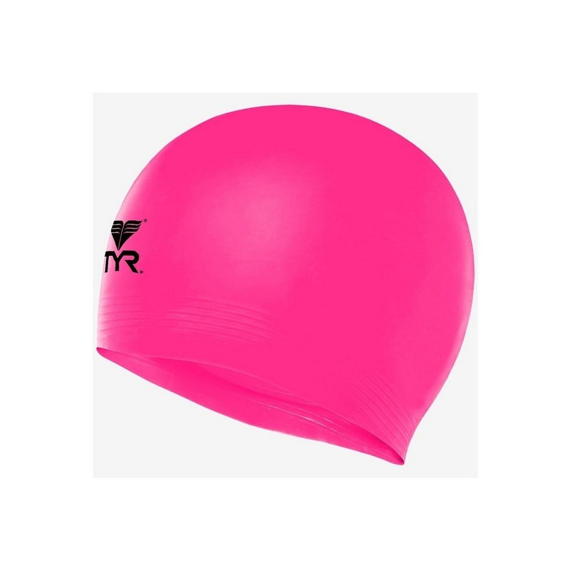 Шапочка плавательная TYR Latex Swim Cap, латекс, LCL\670 розовый