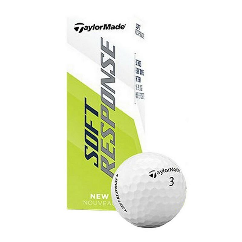 Мяч для гольфа TaylorMade 20 Soft Response GLB M7178301, 3 шт, белый