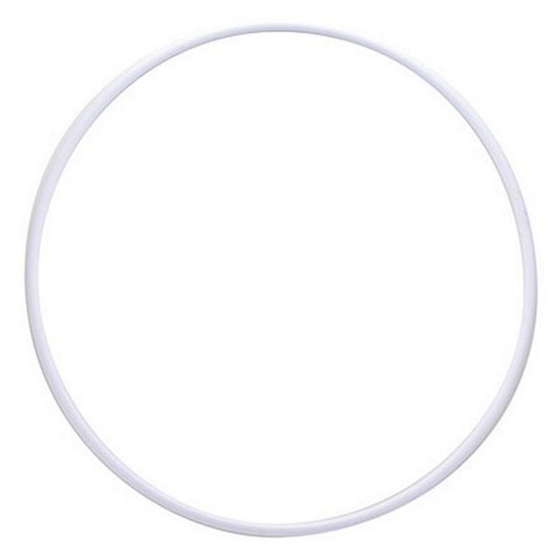 Обруч гимнастический пластмассовый d 900 мм, под обмотку, белый MR-OPl900