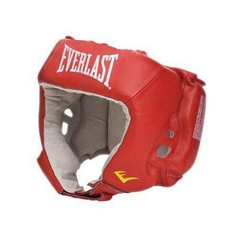 Шлем Everlast Amateur Competition 610000-10 PU для любительского бокса, красный