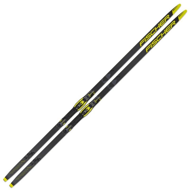 Лыжи беговые Fischer Twin Skin Race Medium IFP Step (черно/желтый)