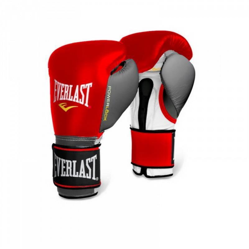 Боксерские перчатки Everlast Powerlock 12 oz красн/сер. 2200556
